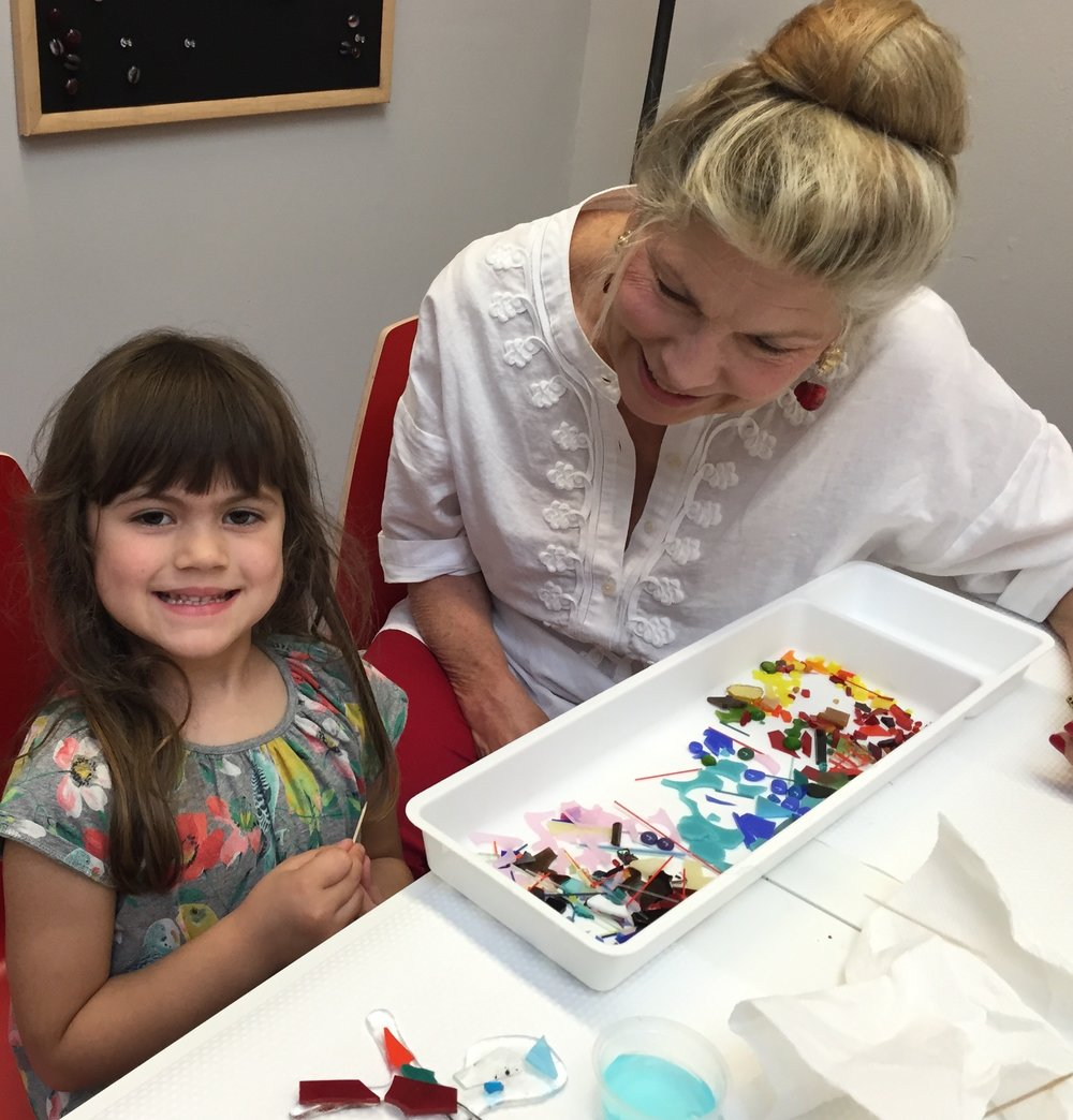 Fused Glass Art Camps - Mommy and Me