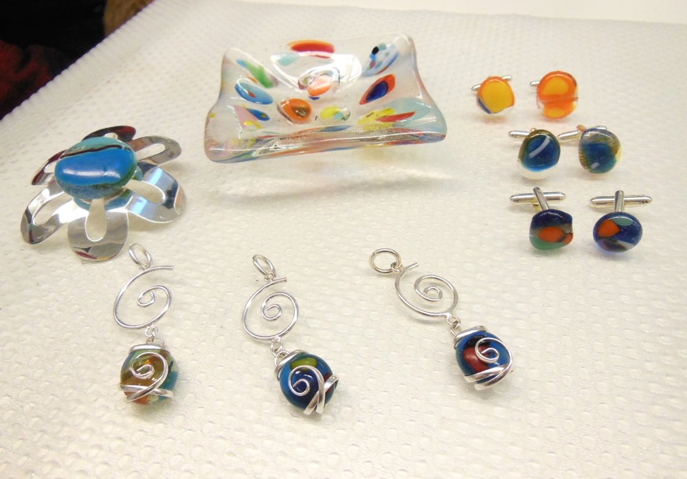 Repurposed forever glass art treasures!