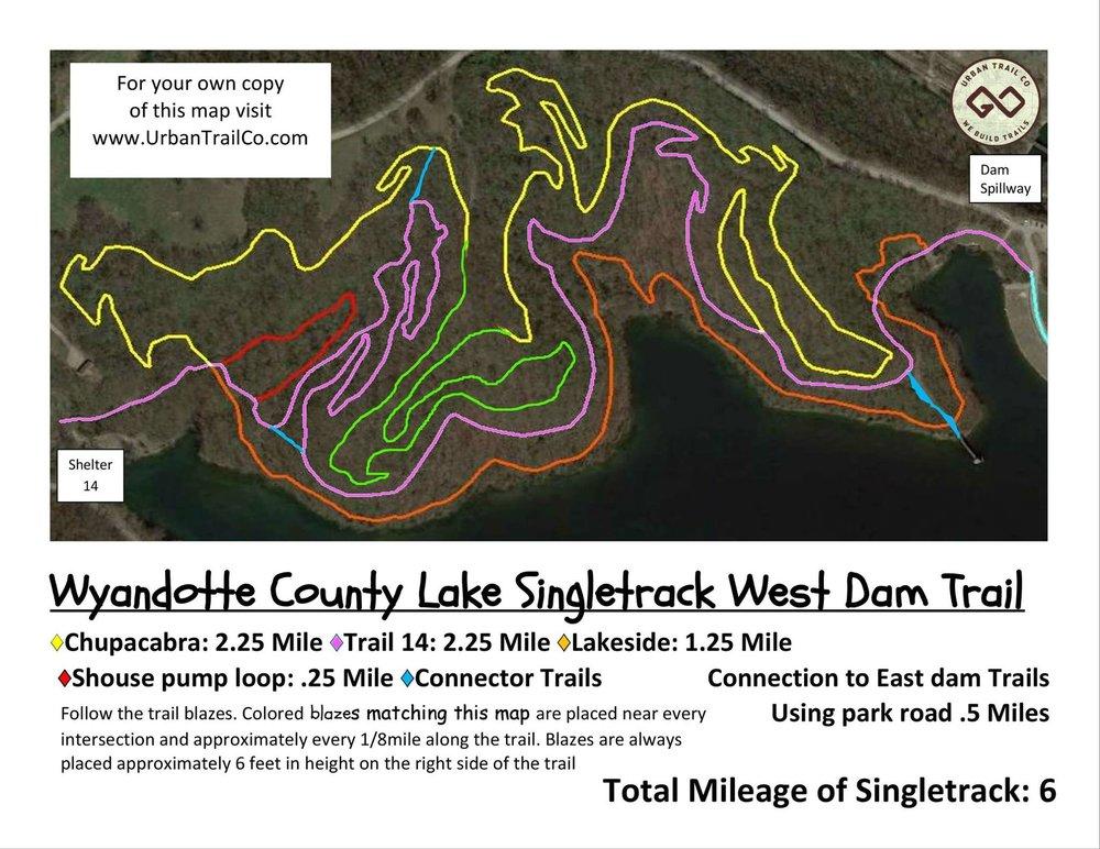 WyCo West Dam map
