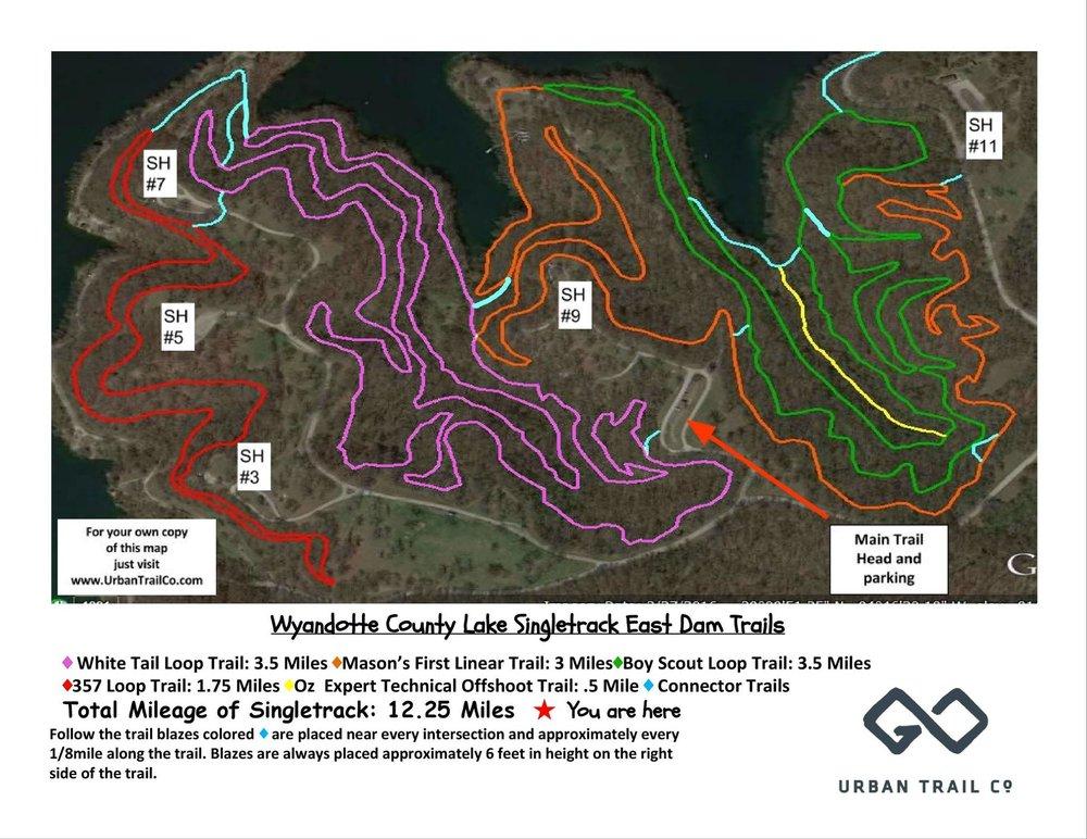 WyCo East Dam map