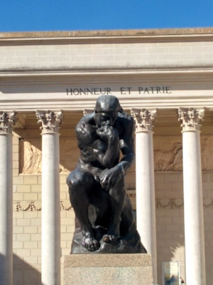 "Auguste Rodin's ""The Thinker"" at the Legion of Honor Museum in San Francisco."