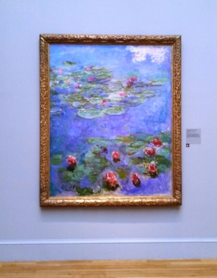 "Claude Monet's ""Water Lilies"" in the Legion of Honor Museum in San Francisco."