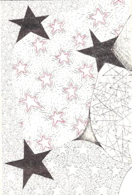 """Stars"" original art by NIna Fazzi"