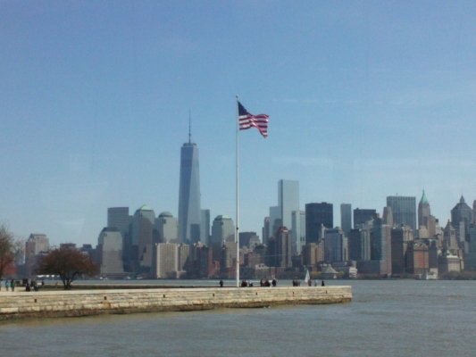 New York Harbor skyline photo by Nina Fazzi
