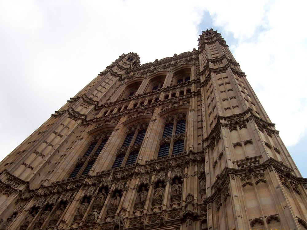 Westminster Abbey's Tower in London.