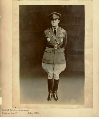 Douglas MacArthur in 1932, around the time he had a relationship with Isabel Rosario Cooper. Photo courtesy of National Archives