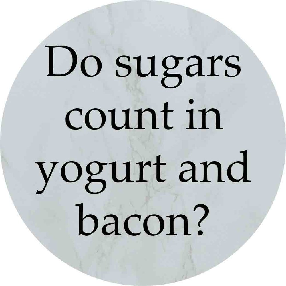 Granny Keto FAQ: Do sugars count in yogurt and bacon?