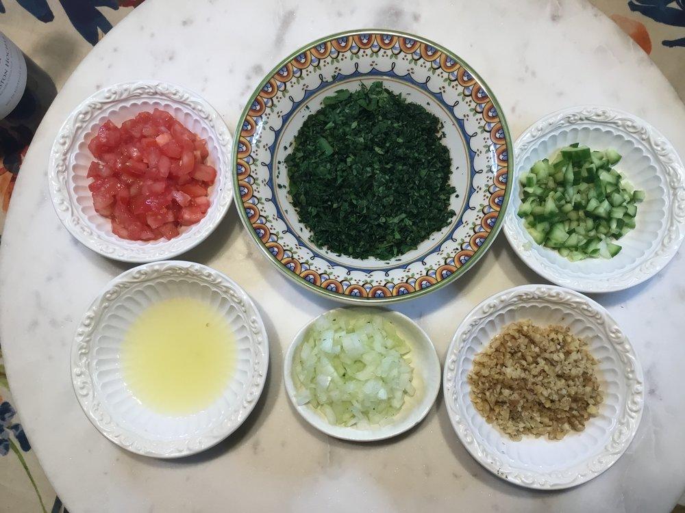 GrannyKeto.com Recipes: Tabouli ingredients