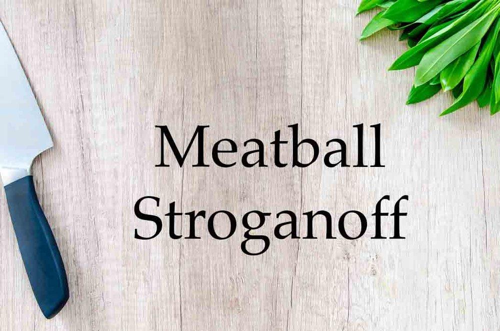 GrannyKeto.com Recipes: Meatball Stroganoff