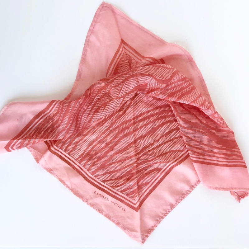 Natural dye silk scarf by Carmen NcNall