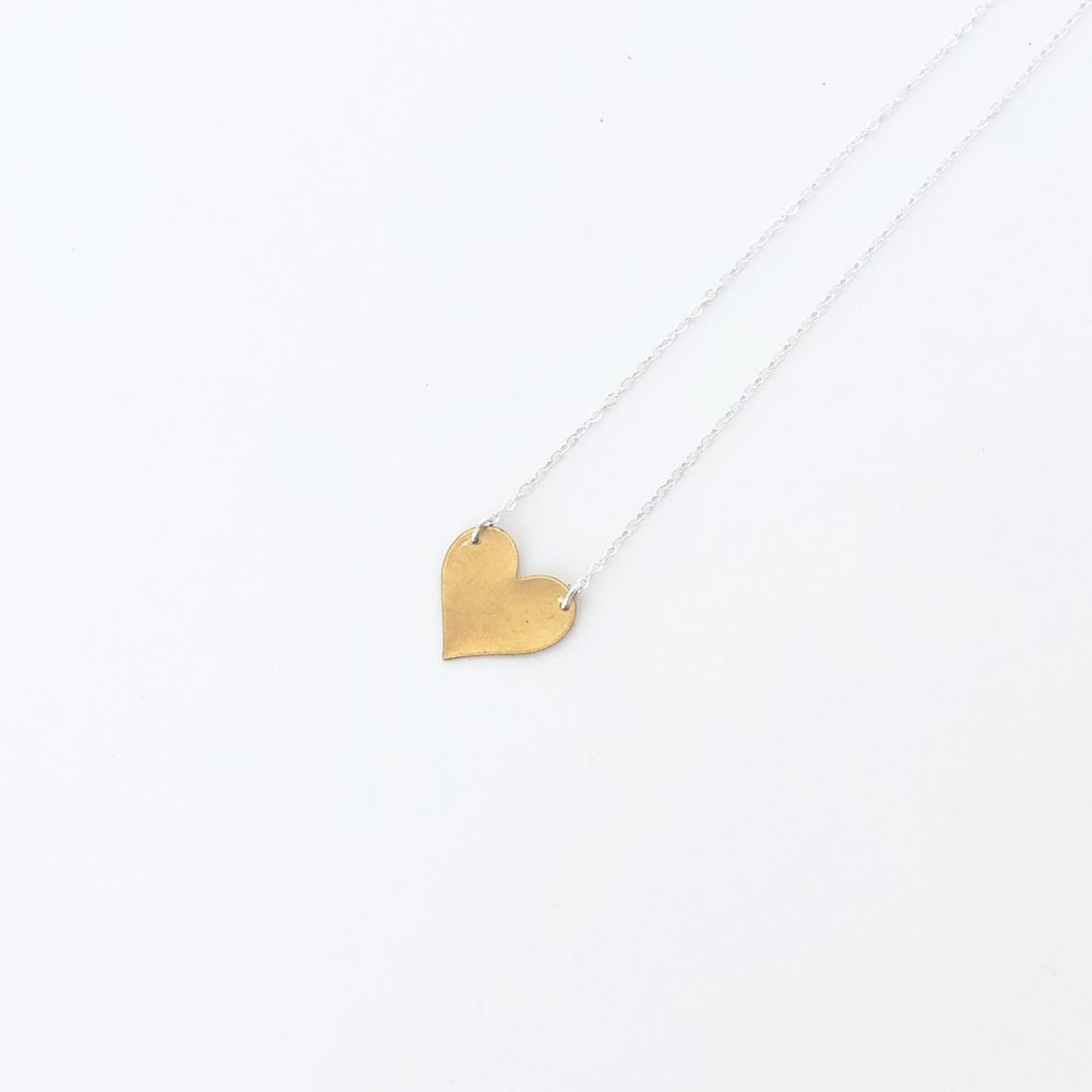 A heart pendent.