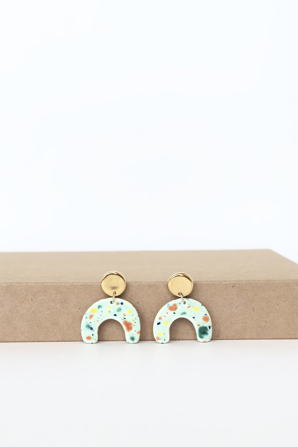 Confetti Statement Earrings by Quiet Clementine.