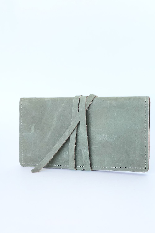 Leather wrap wallet by Stitch & Rivet