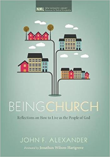 "Being Church  - John AlexanderWhat modern church doesn't call itself a ""community""? Yet for how many is it real? How many churches form disciples intimately connected enough to call themselves Christ's ""body""? How many form disciples practiced in the ways of sacrificial love?Pastor John Alexander, a thirty-year veteran of living in Christian communities, yearns for all the wonder and promise of the New Testament vision of church to come true. After struggling with Scripture in live-together church communities, he shares the Scriptural practices and wisdom that make for an authentic, sustainable, and joyful life together. For any person or church wanting to move beyond the cliché of ""community"" to the radical vision of the New Testament, this book is an invaluable guide."