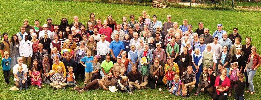 "2017: ""Ya'll Come"" National Gathering held at Bruderhof in Pennsylvania."