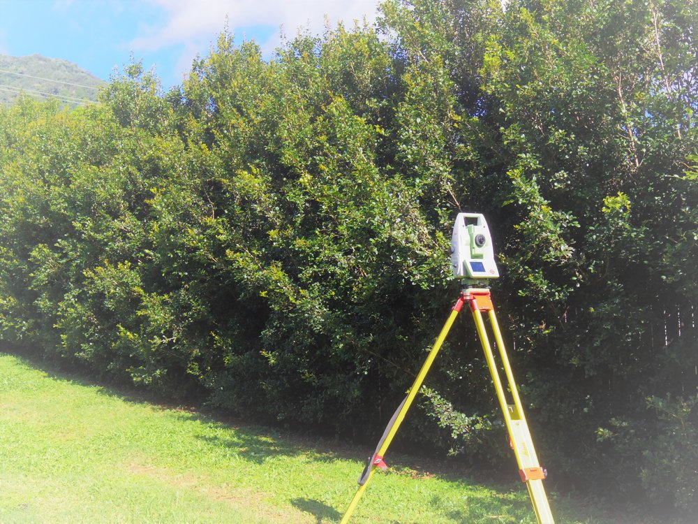 Surveying Total Station measures bearings and distances