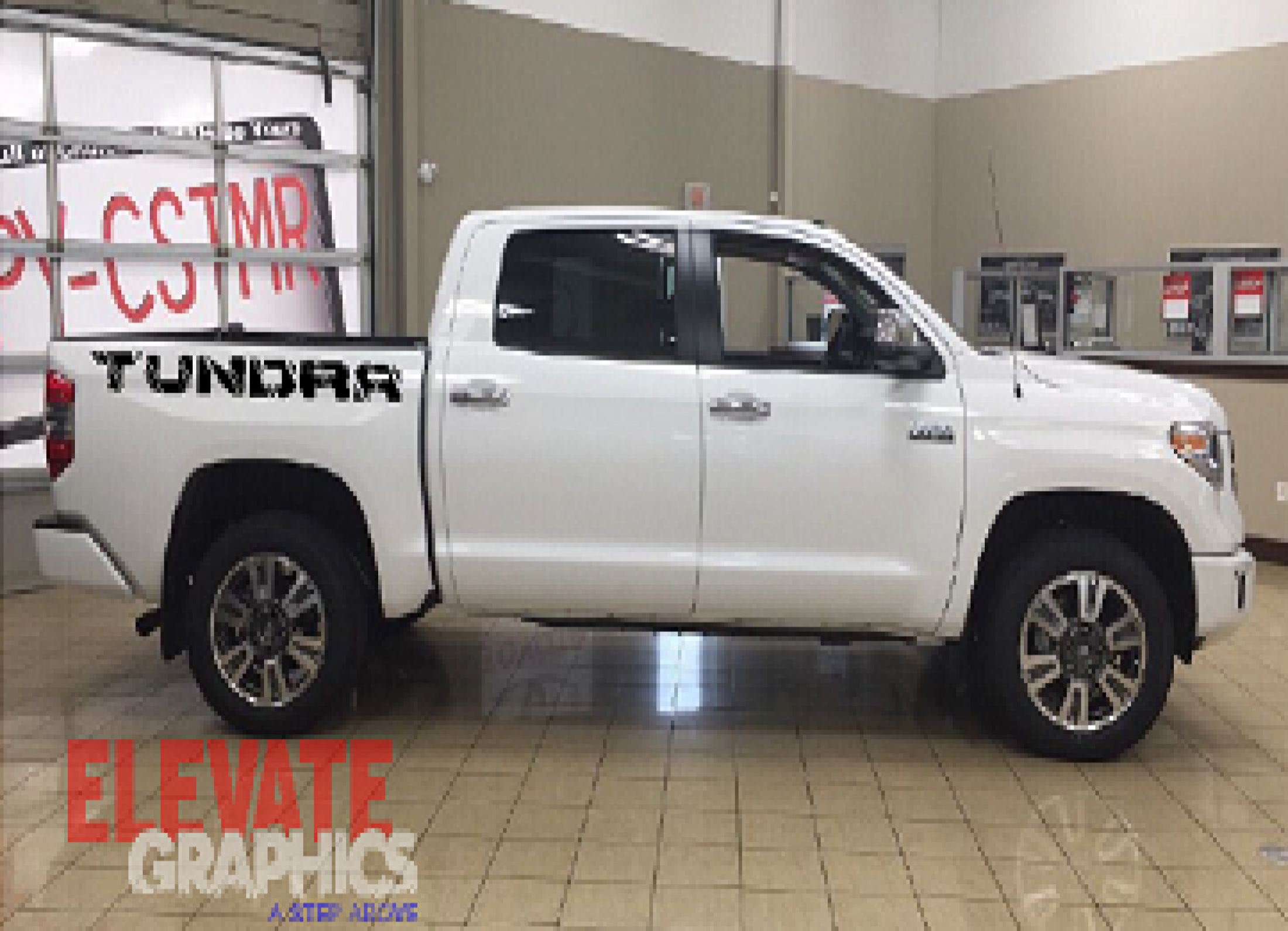 Details about 2007 2019 toyota tundra slash graphic for rocker or back bed side decal stripe