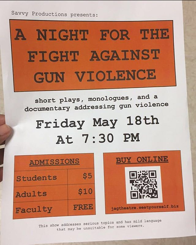 everyone should come out & see this this friday at carrboro high school! a large portion of their proceeds will be donated to #marchforourlives