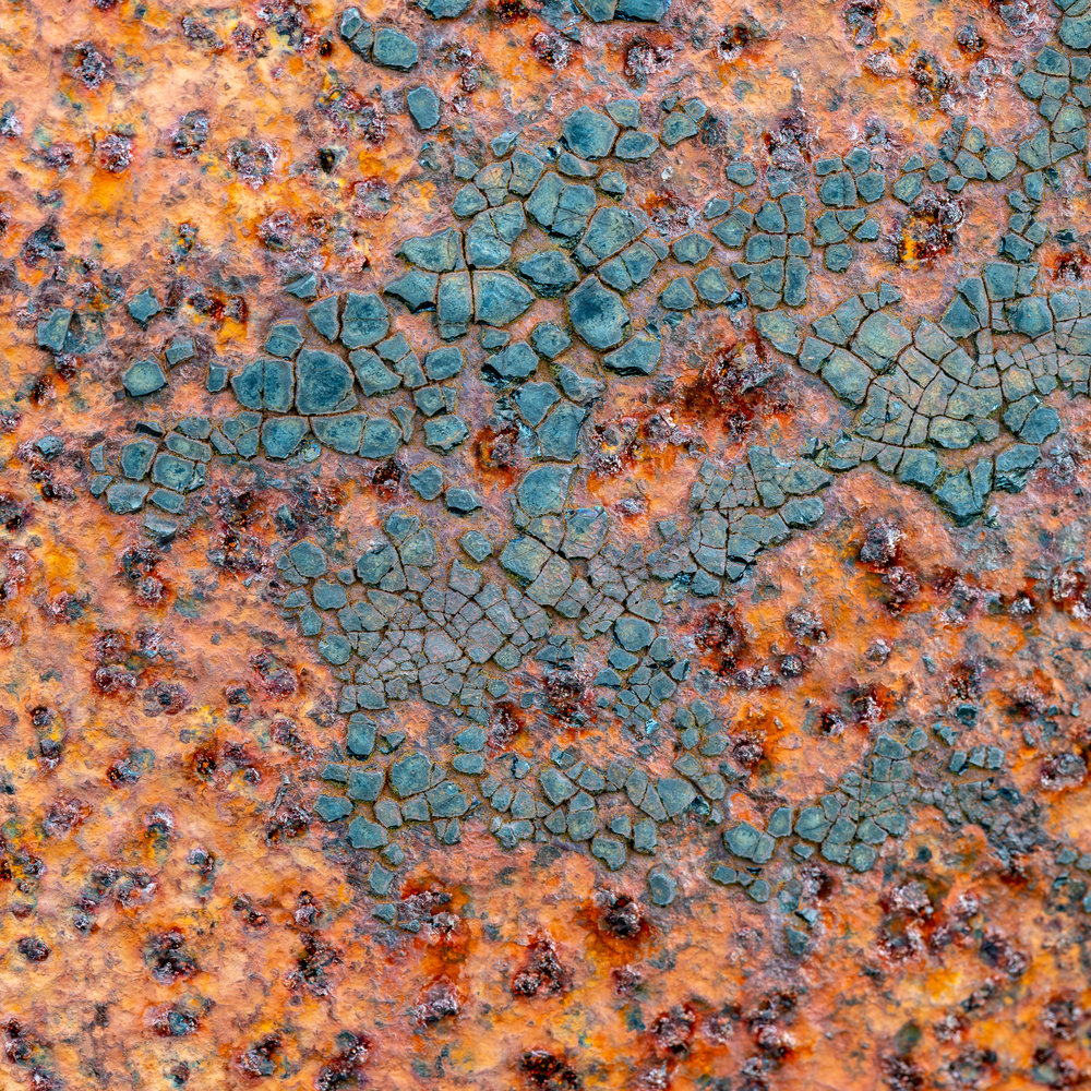 Texture of one of the rusty buoys