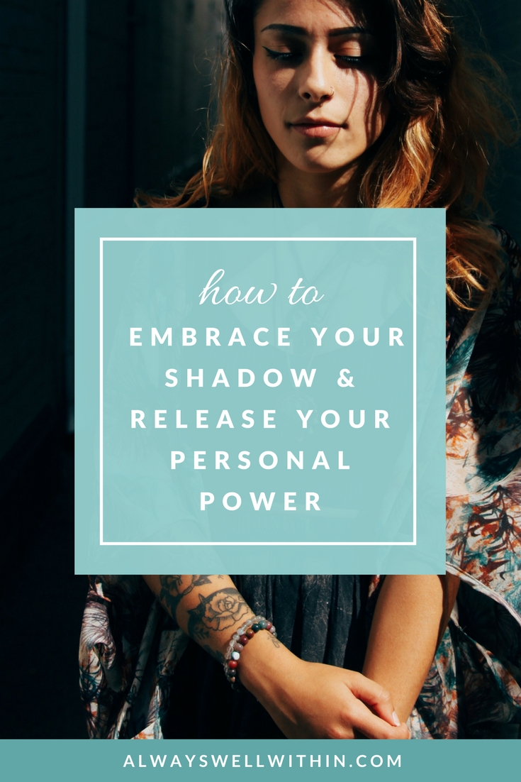 "5 ways to explore your ""shadow side"" + release your personal + creative power #shadowside #carljung #personaldemons #personalgrowth"