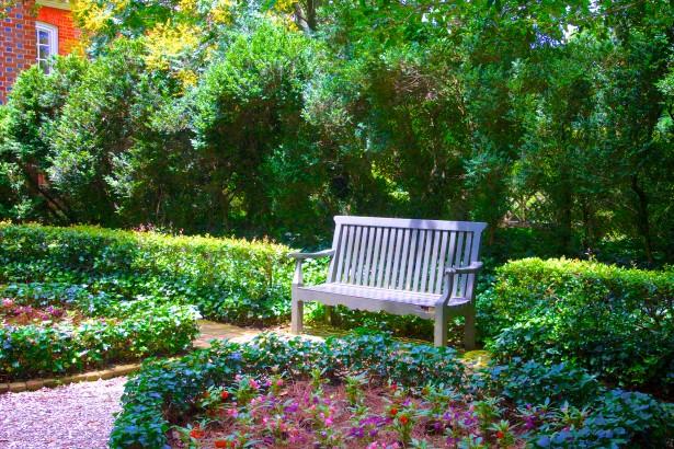 Quiet Sitting in Flower Garden