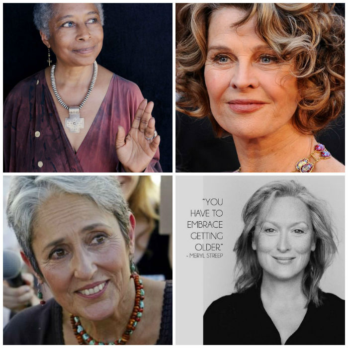 "I sometimes see Pinterest boards titled ""Graceful Aging."" They often feature stunning photos of celebrities like Ali McGraw, Meryl Streep, Carol King, Joan Baez, Helen Mirren, Sally Fields, Barbara Streisand, Jamie Lee Curtis, Julie Christie, and Diane Keaton. These icons look fabulous in the context of conventional standards of beauty. But is this what aging gracefully truly means?"