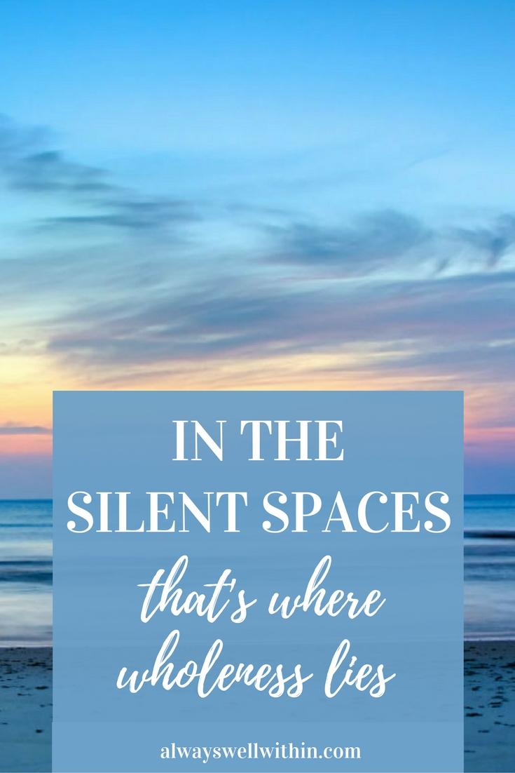 Healing + wholeness thru mindfulness.