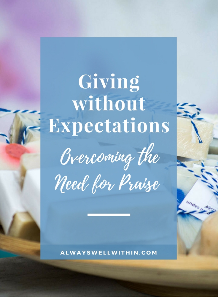 Do expectations get in your way when giving?