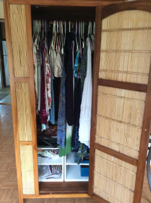 My closet after using the KonMari Method.