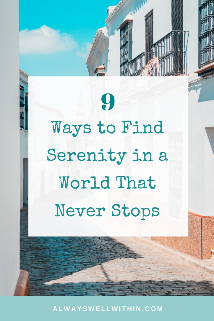 Are you longing for more peace + serenity? Here are 9 simple ways to relieve stress + bring more calm back into your life. #innerpeace #serenity #stressrelief #reducestress #stresstips