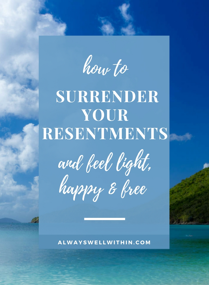 Learn how to heal resentments + feel happier too.