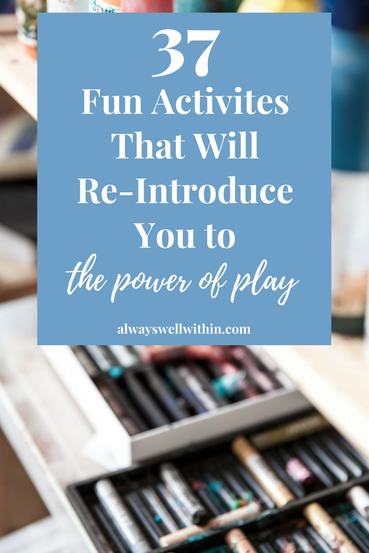 Play benefits your health + well being, adults too!
