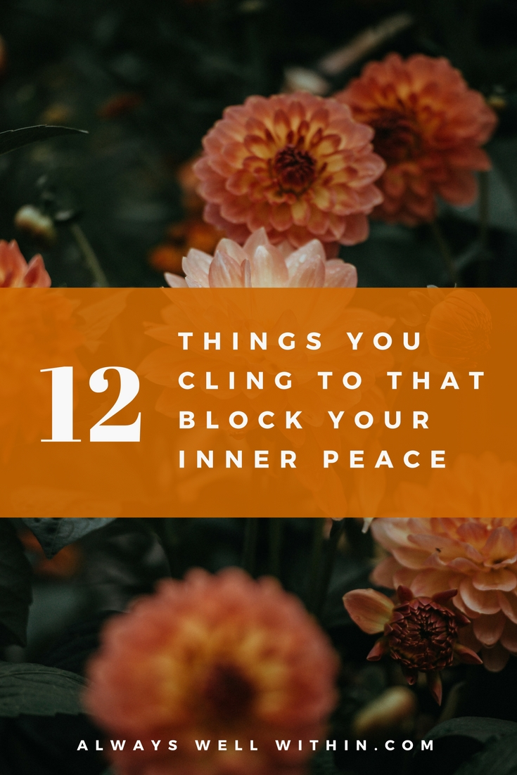 Are you attached to these 12 things? #innerpeace #happiness #attachment #clinging #buddhsim