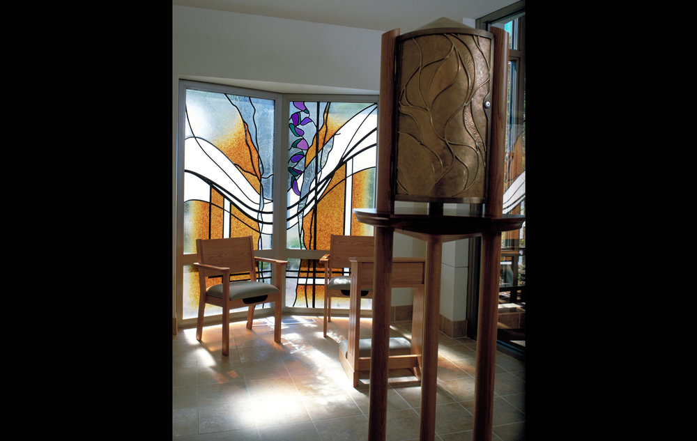 "Eucharistic Chapel. Size: 6'-1"" x 5'-6"""