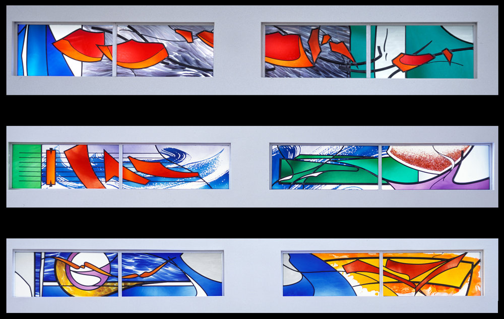 Composite of various sets of windows