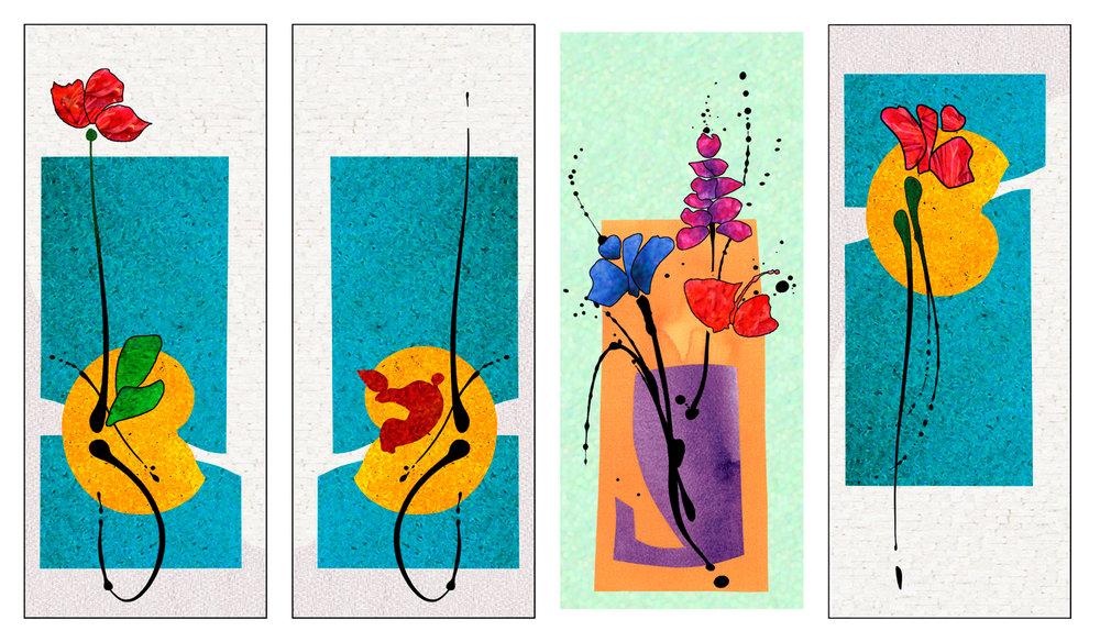 Avaialble Floral Designs. 8' x 19'.