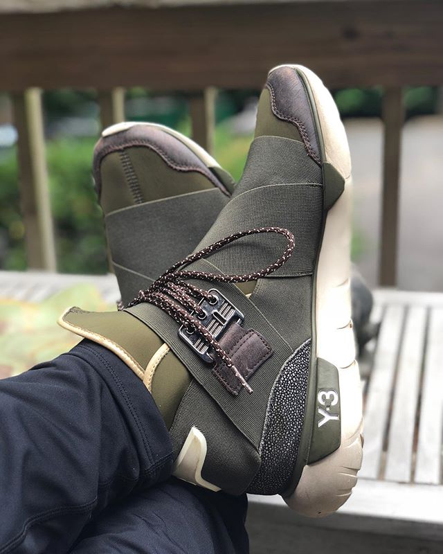 Today's #kotd is the @adidasy3 Qasa High Olive Drab. Who's got a pair?