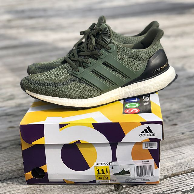 Beautiful pair of VNDS Green @adidas @ultraboosts up for sale today. Almost impossible to tell they've been used at all! — — — — — — — — — — — —  Size: 11.5 US📍 — — — — — — — — — — — —  Price $220 shipped anywhere in the US 📦🌎 — — — — — — — — — — — — Condition: 9.8/10 (VNDS) — — — — — — — — — — — — Great deal! DM us or visit www.adsrkicks.com ⌨️📱