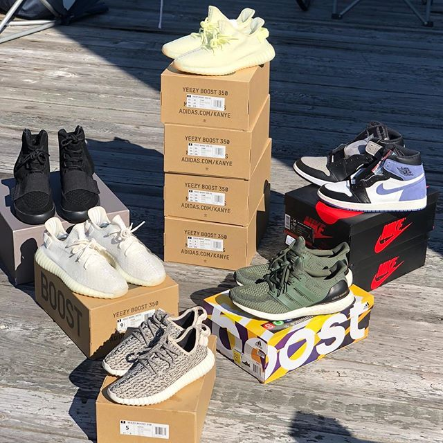 Lots for sale right now for great deals!• •-• Butter Yeezy 350 $275 shipped (9.5, 10.5, 11, 11)• Green Ultra Boost $220 shipped (Size 11.5)• Black Yeezy 750s $775 shipped (Size 11)• Blue Moon 1's $180 shipped (10.5)• Jordan Shadow 1s $170 shipped (Size 14)• Cream Yeezy 350 $300 shipped (size 9.5)• Turtle Doves $1600 (Size 5)• DM with offers or visit us at www.adsrkicks.com