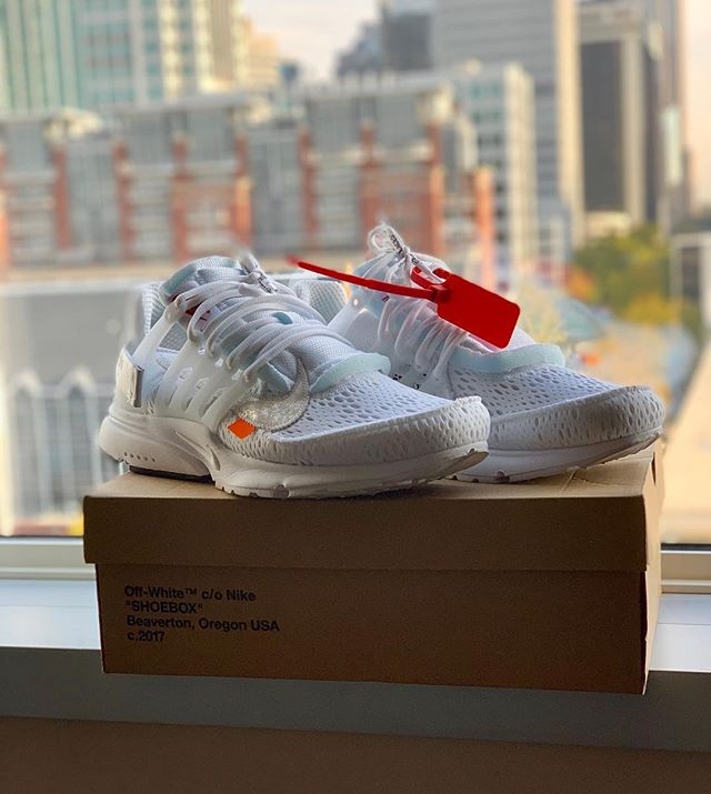 Going out for sale tomorrow.  Size: 11 US  Condition: 9.8/10 (Worn 2x)  Price: $525 shipped  #offwhite #kotd #sneakers #sneakerhead #offwhitepresto #offwhitenike #nikeoffwhite #hypekicks #sneakersforsale #shoesforsale #hypebeast