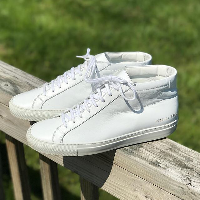 White Basically new Common Projects Size 41/ Size 9 US. $285 Comes with OG box and dust bag. Need to offload some inventory so take advantage of these great deals!