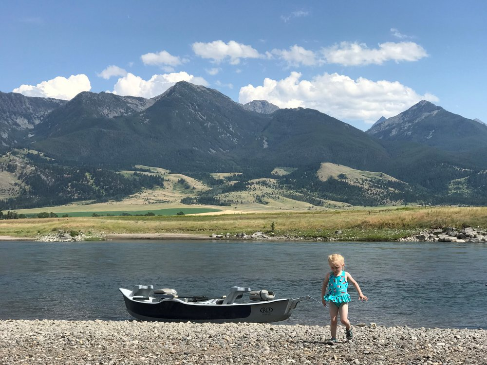 My lovely little on our float trip.