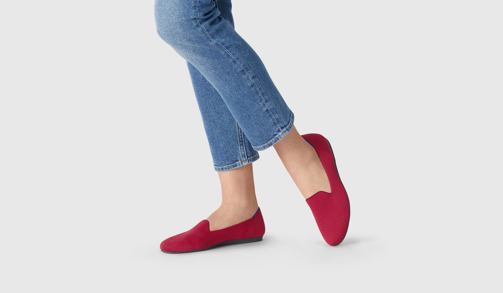 Dark Red Loafer by  Rothy's
