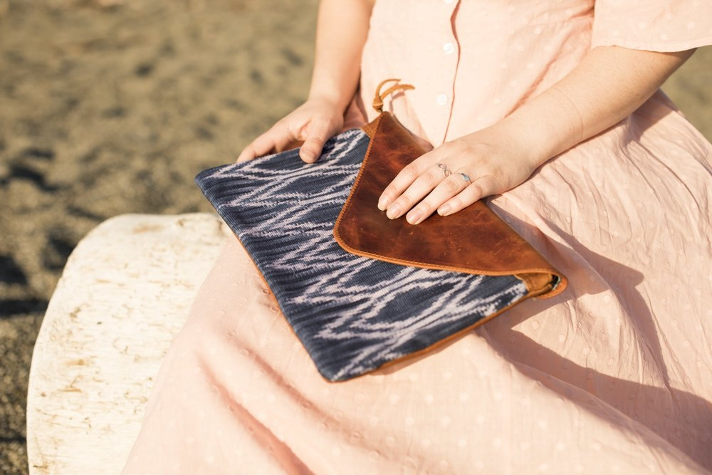 Indigo Clutch by  Kakaw Designs
