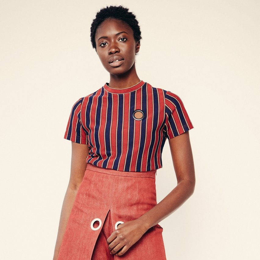 Tommie Stripe Tee by  William Okpo