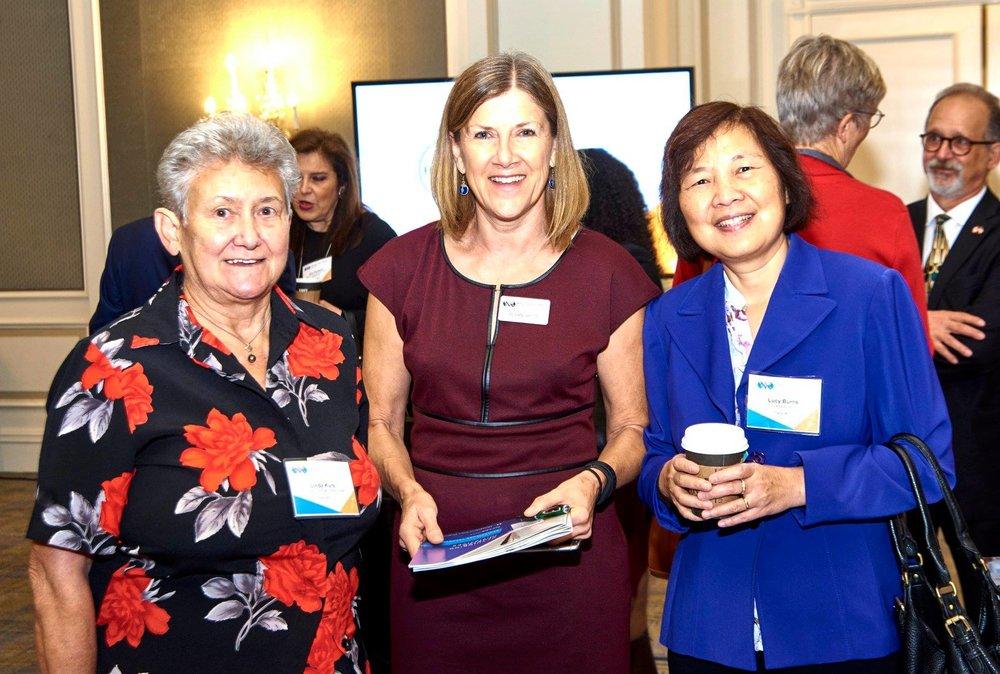Left to right: Linda Kurz - SLSSC Board Member, Susan Spitz - WOrld Trade Center St. Louis, lucy burns - Cicadea biospace, llc.
