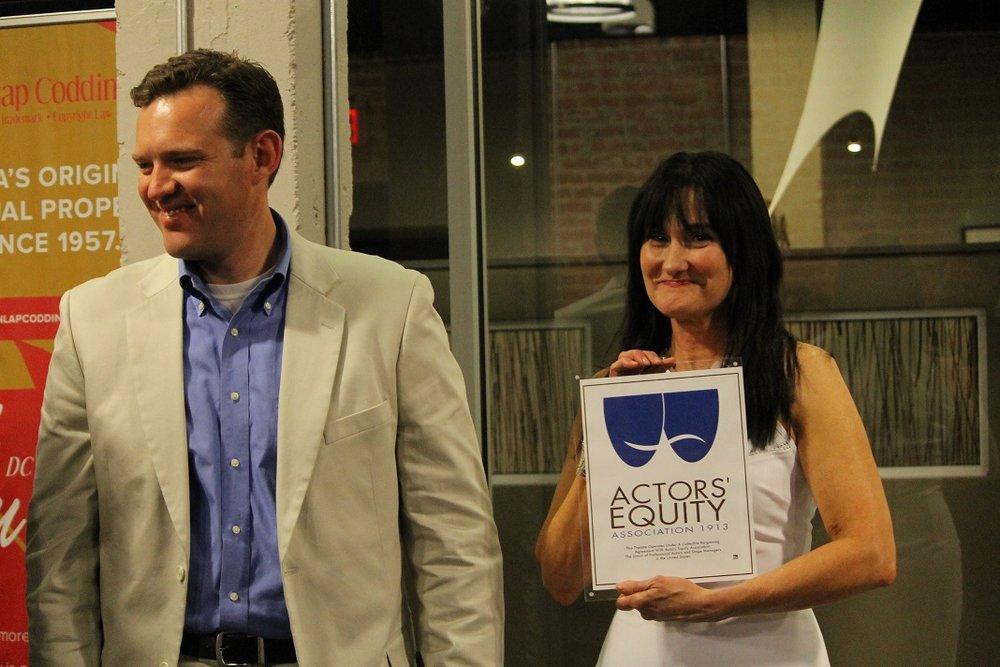 Former Board President Rob Gallavan & Founding Artistic Director, Kathryn McGill, 2014