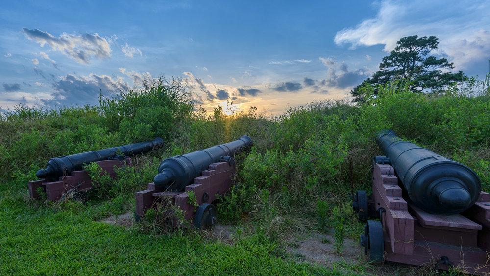 Cannons at Yorktown Battlefield