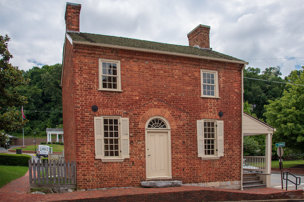 Andrew Johnson's Early Home is located right across the street from his tailor shop, which was the center of political dialogue in Greeneville.