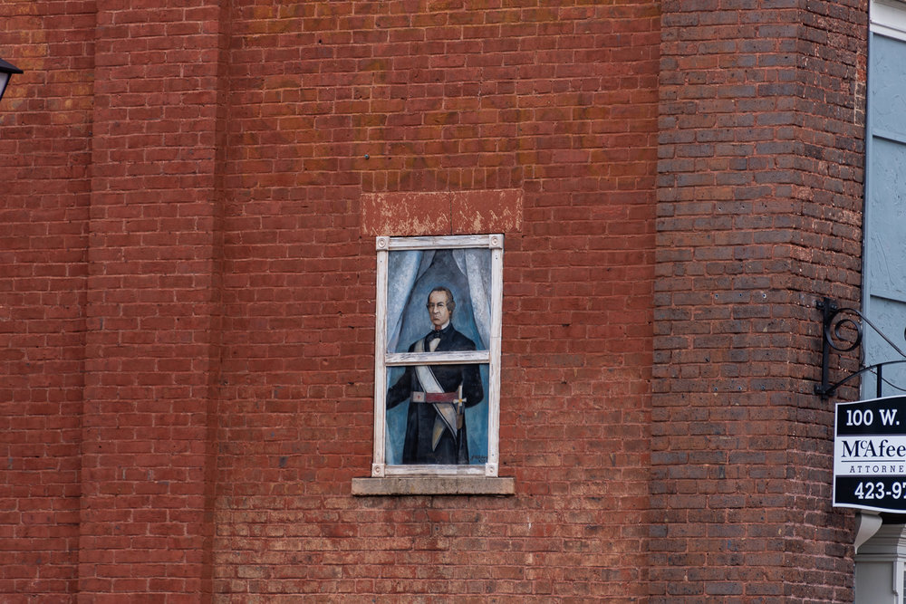 Andrew Johnson mural located on Main Street.